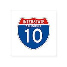 """Interstate 10 - CA Square Sticker 3"""" x 3"""""""