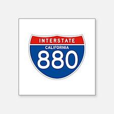 """Interstate 880 - CA Square Sticker 3"""" x 3"""""""