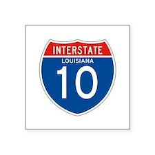 """Interstate 10 - LA Square Sticker 3"""" x 3"""""""