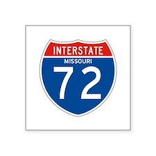 "Interstate 72 - MO Square Sticker 3"" x 3"""