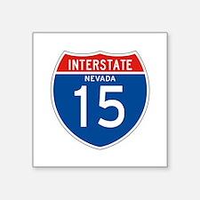 "Interstate 15 - NV Square Sticker 3"" x 3"""