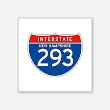 "Interstate 293 - NH Square Sticker 3"" x 3"""
