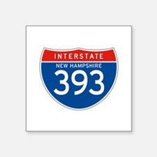 "Interstate 393 - NH Square Sticker 3"" x 3"""