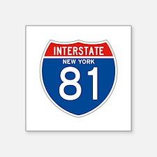 "Interstate 81 - NY Square Sticker 3"" x 3"""
