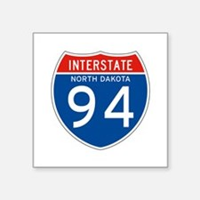 "Interstate 94 - ND Square Sticker 3"" x 3"""