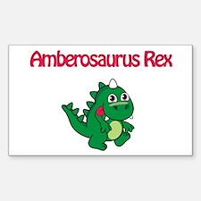 Amberosaurus Rex Rectangle Decal