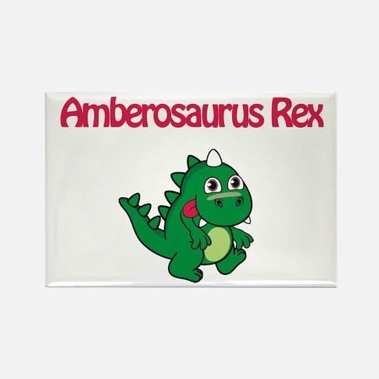 Amberosaurus Rex Rectangle Magnet (10 pack)