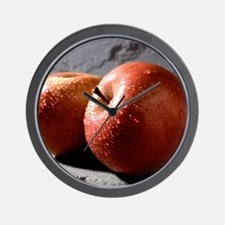 Fuji Apples Wall Clock
