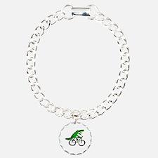 Alligator Riding Bicycle Bracelet