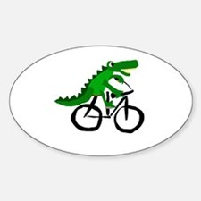 Alligator Riding Bicycle Decal