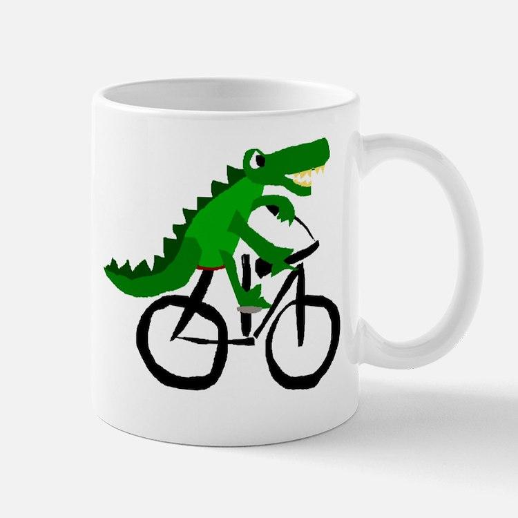 Alligator Riding Bicycle Mug