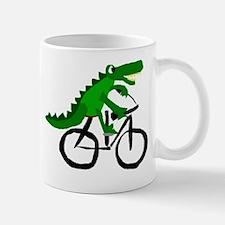 Alligator Riding Bicycle Small Small Mug