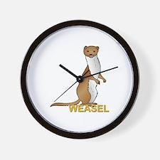 Weasel Wall Clock