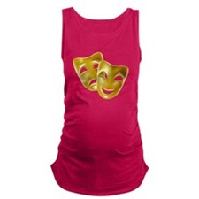 Masks of Comedy and Tragedy Maternity Tank Top