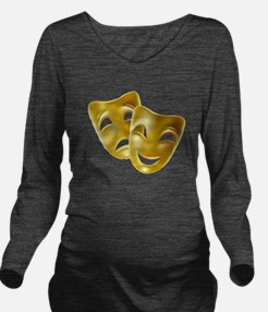 Masks of Comedy and Long Sleeve Maternity T-Shirt