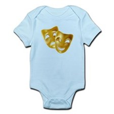 Masks of Comedy and Tragedy Infant Bodysuit