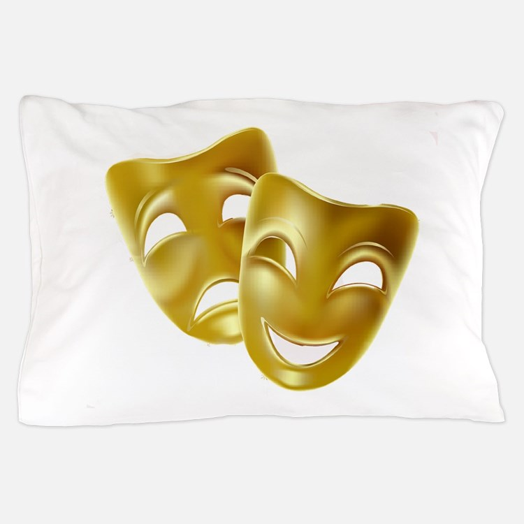 Masks of Comedy and Tragedy Pillow Case