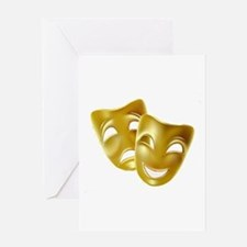 Masks of Comedy and Tragedy Greeting Card