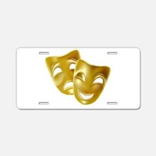 Masks of Comedy and Tragedy Aluminum License Plate
