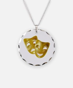 Masks of Comedy and Tragedy Necklace