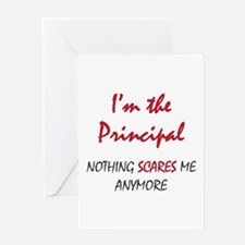 Nothing Scares Principal Greeting Card