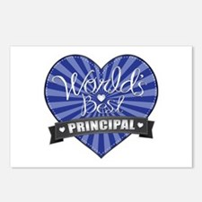 Best Principal Heart Postcards (Package of 8)