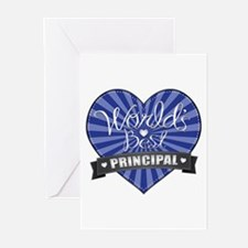 Best Principal Heart Greeting Cards (Pk of 10)