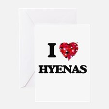I love Hyenas Greeting Cards