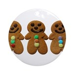 Gingerbread Men Ornament (Round)
