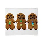 Gingerbread Men Throw Blanket