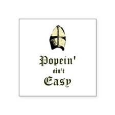 "Cute Pope benedict Square Sticker 3"" x 3"""