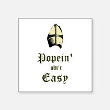 "Cute Pope Square Sticker 3"" x 3"""