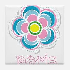 paris fleur Tile Coaster