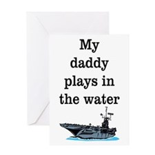DADDY PLAYS IN THE WATER 1 Greeting Card