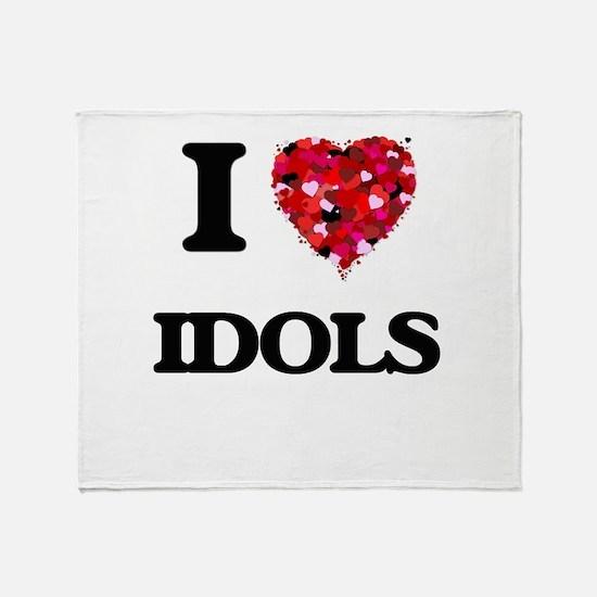 I love Idols Throw Blanket