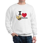 I Love BEEthoven Grey Sweatshirt