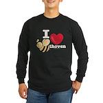 I Love BEEthoven Long Sleeve Black T-Shirt