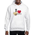 I Love Beethoven Hooded Sweatshirt