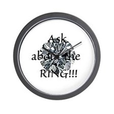 Ask about the Ring!!! Wall Clock