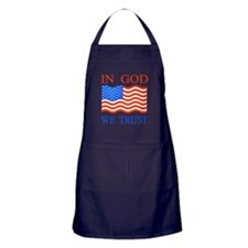 In God We Trust Apron (dark)