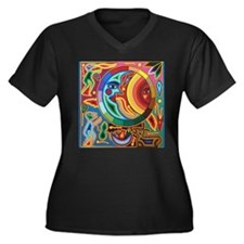Mexican_String_Art_Image_Sun_Moo Plus Size T-Shirt