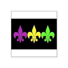 """Cute Fleur de lis Square Sticker 3"""" x 3"""""""