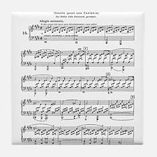 Moonlight-Sonata-Ludwig-Beethoven Tile Coaster
