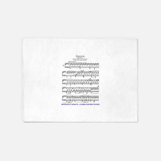 Moonlight-Sonata-Ludwig-Beethoven 5'x7'Area Rug