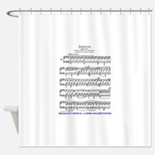 Moonlight-Sonata-Ludwig-Beethoven Shower Curtain