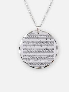 Moonlight-Sonata-Ludwig-Beet Necklace Circle Charm