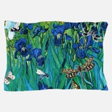 Van Gogh Garden Irises Pillow Case