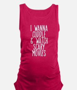 Cuddle and Watch a Movie Maternity Tank Top