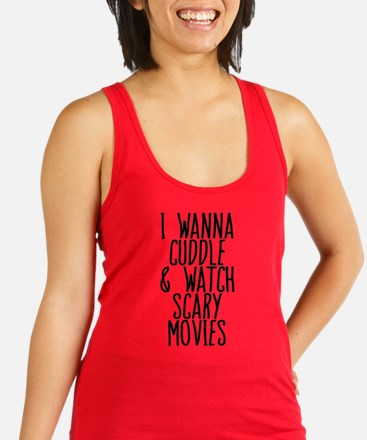 Cuddle and Watch a Movie Racerback Tank Top