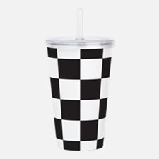 Checkered Acrylic Double-wall Tumbler